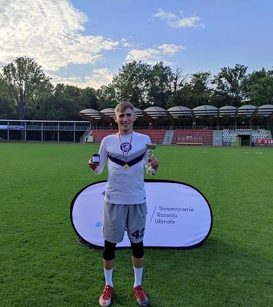 Mistrzostwa Polski ultimate frisbee mixed 2021 - Maciej Pająk MVP